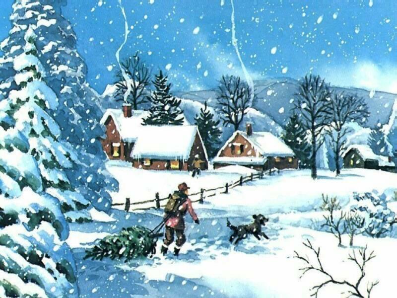 Dessins et paysages de neige - www.alertes-meteo.com
